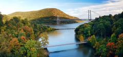 Hudson river valley panorama Stock Photos