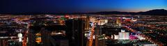 las vegas city skyline panorama - stock photo