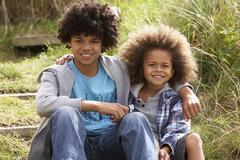Stock Photo of portrait of boys