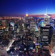 urban city skyline - stock photo