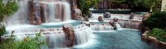 waterfall panorama, las vegas. - stock photo