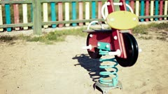 Empty playground in vintage Stock Footage
