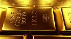 Stock Video Footage of Exclusive gold bars