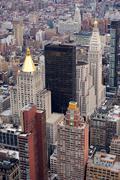 Stock Photo of manhattan skyline with new york city skyscrapers