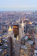 new york city manhattan downtown - stock photo