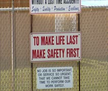 Safety first sign Stock Footage