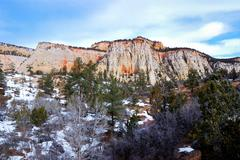 Zion national park in winter Stock Photos