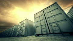 Cargo containers loopable. Stock Footage