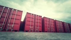 Cargo containers Stock Footage