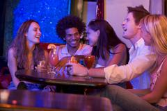 Young people at a bar Stock Photos