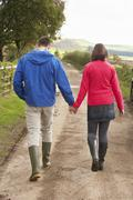 Stock Photo of couple on country walk