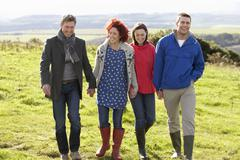 Stock Photo of couples on country walk
