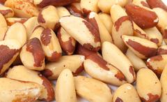 heap brazil nuts - stock photo