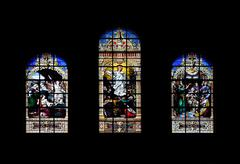 window art in boston trinity church - stock photo