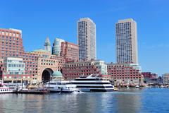 boston waterfront - stock photo