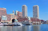Stock Photo of boston waterfront