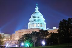 capitol hill building, washington dc - stock photo