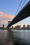 Stock Photo of new york city manhattan bridge