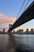new york city manhattan bridge - stock photo