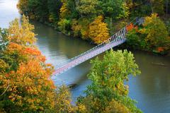 Hudson river valley in autumn Stock Photos