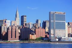 new york city manhattan midtown - stock photo