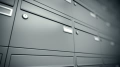 Mailboxes post office letters communication and messages delivery postal code Stock Footage