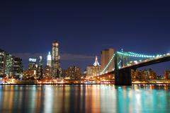 Brooklyn bridge, manhattan, new york city Stock Photos