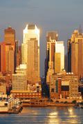 new york city sunset - stock photo