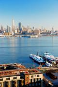 new york city viewed from new jersey - stock photo
