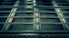 Data network center servers. Cloud computing, e-commerce upload download data.  - stock footage