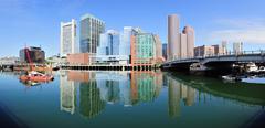 Boston waterfront Stock Photos
