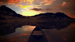 Boat on the lake. - stock footage