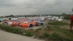 Refugee camp tents in Port-au-Prince Haiti Stock Footage