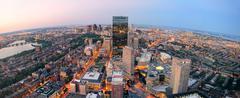 Boston sunset Stock Photos