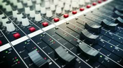 Audio mixing console. Stock Footage