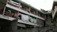 Pan across nice apartments in Port-au-Prince Haiti Stock Footage