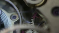 Old pocket watch [extreme Macro]  Stock Footage