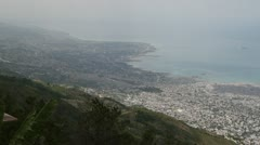 Extremely wide hilltop shot of Port-au-Prince Haiti Stock Footage