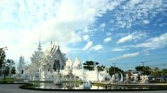 time-lapse  Wat Rong Khun, Chiang Rai, Thailand. - stock footage