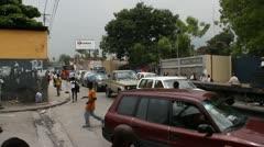 Busy street scene Port-au-Prince Haiti Stock Footage