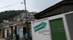 driving shot of hillside neighborhoods Port-au-Prince Haiti - stock footage