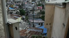 extensive hillside neighborhood for Prince Haiti - stock footage