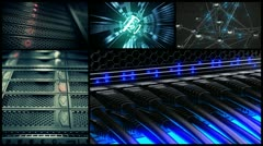 Data network center switch. Cloud computing, e-commerce upload download server. - stock footage
