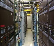 Stock Video Footage of IT technician works in computer server room