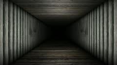 Wood Corridor Loop Stock Footage