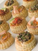 Selection of Cocktail Vol au Vents Stock Photos