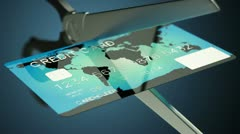Credit card cutting. - stock footage