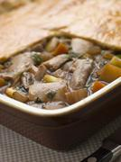 Chicken Vegetable and Gravy Pie - stock photo