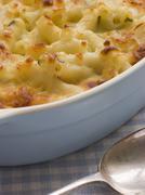 Dish of Macaroni Cheese - stock photo
