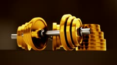 Dumbbells animation. Stock Footage